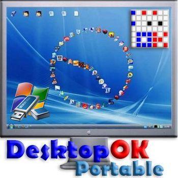 Восстановление иконок на рвбочем столе DesktopOK 9.21 Portable