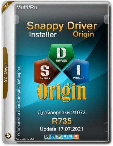 Портативный установщик драйверов Snappy Driver Installer Origin R735 / Драйверпаки 21072